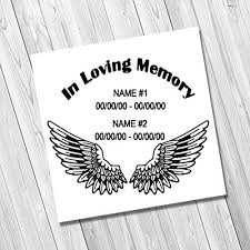 amazon com in loving memory with wings two names vinyl