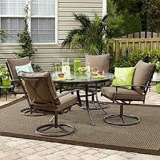 Outdoor Table And Chair Set Essential Garden Carrollton 4 Piece Dining Chair Set Mocha