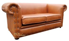 Saddle Brown Leather Sofa Chesterfield Decor 2 Seater Settee Old English Saddle Leather Sofa