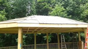 Metal Pergolas With Canopy by 2013 07 01 How To Install A Steel Roof On Gazebo Youtube