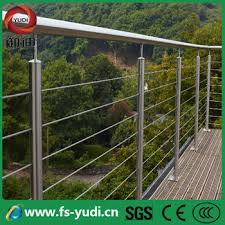 made in china outdoor chrome steel deck railings price design