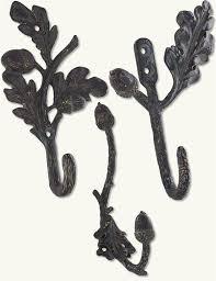 Decorative Coat Hook Acorn And Oak Leaf Wall Hooks Decorative Coat Hooks Pewter Hooks