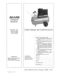 craftsman air compressor 919 176730 user guide manualsonline com