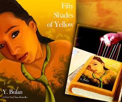 50 shades of yellow birthday book cake by imagineye on deviantart