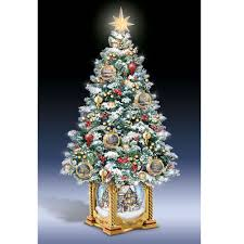 the kinkade snow globe tabletop tree hammacher schlemmer
