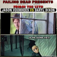 Jason Voorhees Memes - jason voorhees vs daryl dixon failing dead