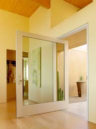 Modern Entry Doors by Modern Entry Pivot Door Design With Glass And White Wooden Frame