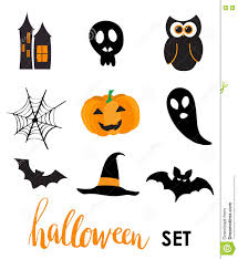 collection of halloween stickers for your design stock