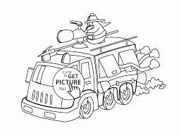funny cartoon fire truck coloring page for kids transportation