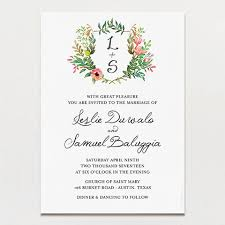 wedding invitation printing crest wedding invitation white paper with floral graphics