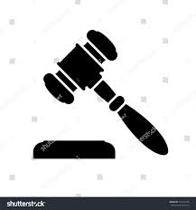 Black Minimalist by Auction Judge Gavel Icon Black Minimalist Stock Vector 512416918