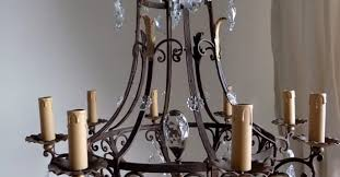 Antique Iron Chandeliers Chandelier Wrought Iron And Crystal Chandelier Exquisite