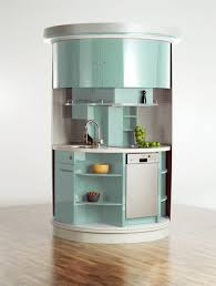 cool round shape blue white colors kitchen features double door