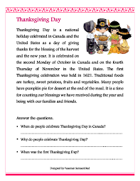 Thanksgiving Story For Preschool 66 Free Thanksgiving Worksheets