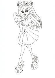 free printable monster high coloring pages clawdeen free coloring