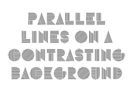 design lines font alias