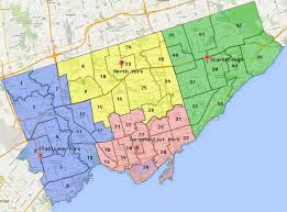 New York City Council District Map by City Wide Ward Boundary Map Toronto Building Services City