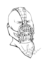 bane coloring pages at page omeletta me