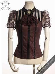brown blouse melisandre brown blouse rqbl sp087 steunk blouse with