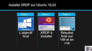bureau distance ubuntu installer xrdp sur ubuntu 16 04