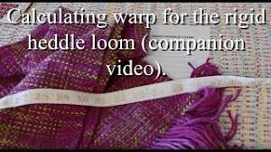 zylinderoberfl che calculating warp for the rigid heddle loom companion from