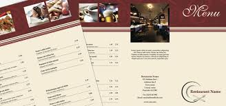 pages menu template tri fold leaflet restaurant menu istudio publisher page