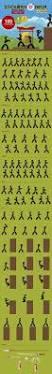 stickman ninja sprite sheet armed fight fonts logos icons