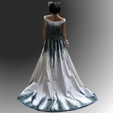 gothic gowns gothic wedding dress with stunning hand painted