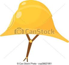 vector clipart yellow fireman helmet cartoon fireman helmet