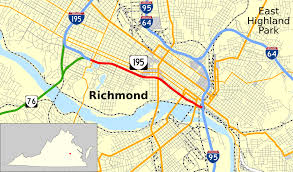 Map Of Richmond Virginia by Virginia State Route 195 Wikipedia