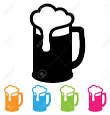 Beer Mug Vector Black And White Clipart