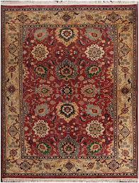 rugsville sultanabad burgundy gold wool rug 10828