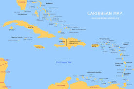 The United States Map Labeled by Caribbean Islands Map Caribbean Country Map Caribbean Map With