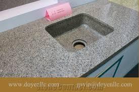 mozart ruby granite bathroom vanity top wt rectangular vessel sink