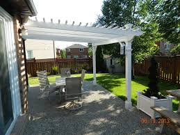White Vinyl Pergola Kits by Ultralast White Vinyl Freemont Pergola Kit Va42044 On Sale