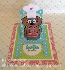 altered scrapbooking baking buster pull tab card