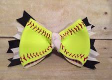 softball hair bows softball hair bow real you choose colors ebay