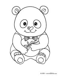 cute panda coloring pages hellokids