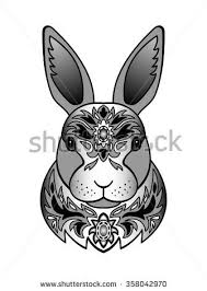 rabbit tattoo stock images royalty free images u0026 vectors