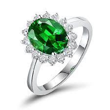 52nd wedding band tsavorite ring