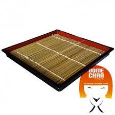 stuoia bamboo piatto zaru quadrato con stuoia di bambu per soba 19 5 cm