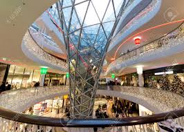 Shopping In Germany The Interior Of Myzeil Shopping Mall In Frankfurt Germany Stock