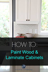 Laminate Kitchen Cabinet Makeover by Fine Painting Laminate Kitchen Cabinets Before And After Interior