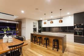 black and wood 52 enticing kitchens with light and honey wood floors pictures