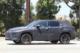 lexus suv hybrid test 7 seat lexus rx prototype spied testing autoguide com news
