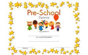 preschool diploma preschool diploma certificate templates best 10 templates