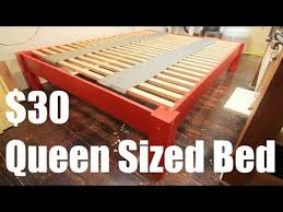 how to make a queen sized bed for under 30 youtube wood