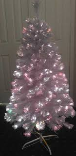 white 6ft fiber optic artificial tree