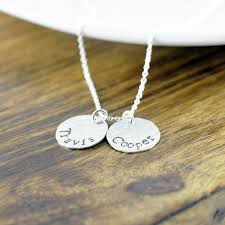 Kids Name Necklaces Personalized Silver Necklace Mother U0027s Necklace Mom Jewelry Kids