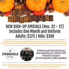 stronghold thanksgiving week sign up specials the stronghold